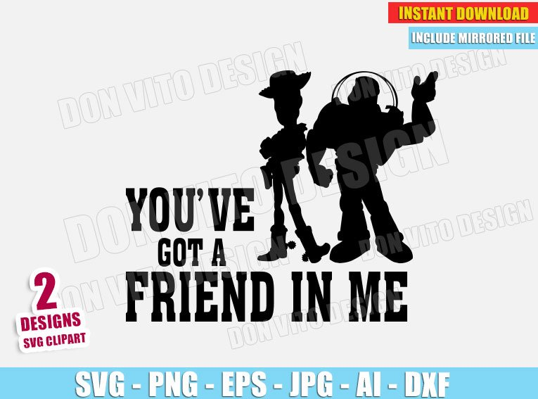 Woody and Buzz (SVG dxf png) cut files PNG image vector clipart - DonVitoDesign Store