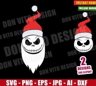 Jack Skellington Santa Claus Hat (SVG dxf png) -cut files PNG image vector clipart - DonVitoDesign Store