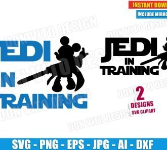Jedi In Training Mickey Mouse (SVG dxf png) cut files PNG image vector clipart - DonVitoDesign Store