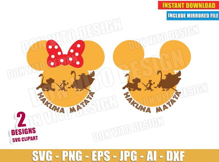 Lion King Hakuna Matata (SVG dxf png) SVG cut files PNG image vector clipart - DonVitoDesign Store