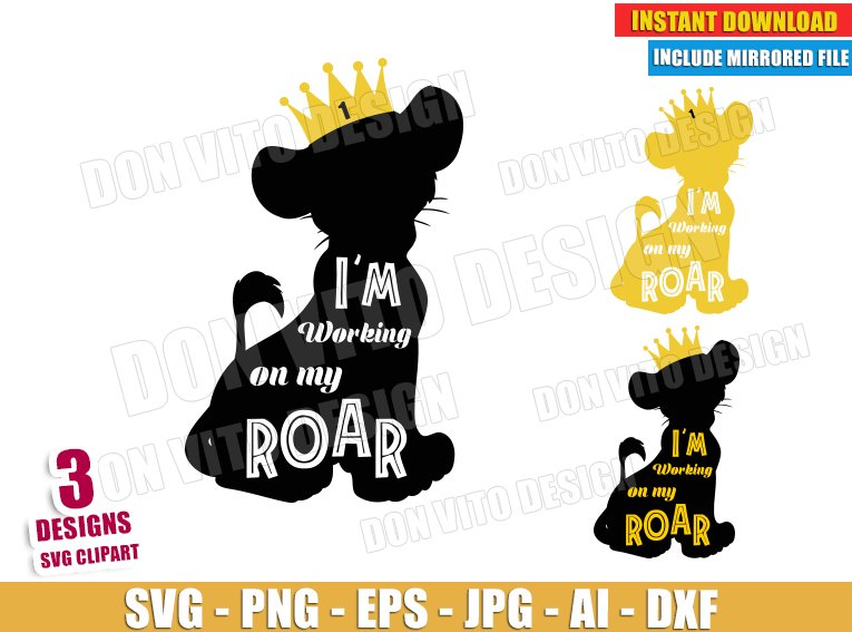 Lion king Crown King (SVG dxf png) SVG cut files PNG image vector clipart - DonVitoDesign Store