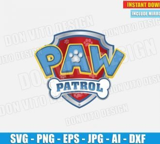 Logo Paw Patrol Birthday Party (SVG dxf png) cut files PNG image vector clipart - DonVitoDesign Store