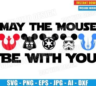 May The Mouse Be With You (SVG dxf png) cut files PNG image vector clipart - DonVitoDesign Store