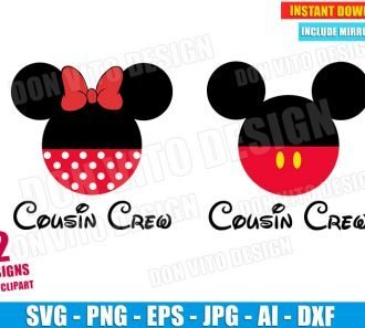 Mickey & Minnie Mouse Cousin Crew SVG dxf png cut files image vector clipart - DonVitoDesign Store -
