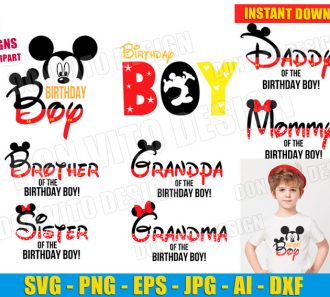 Mickey Mouse Birthday Party Boy SVG dxf png cut files image vector clipart - DonVitoDesign Store -