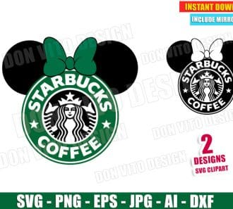 Minnie Starbucks Coffee Logo (SVG dxf png) SVG cut files PNG image vector clipart - DonVitoDesign Store