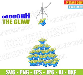 Oooh The Claw Alien Toy Story Quote (SVG dxf png) SVG cut files PNG image vector clipart - DonVitoDesign Store