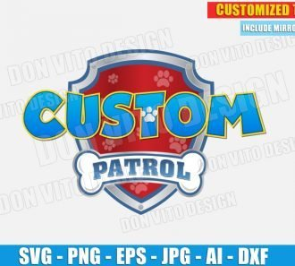 Paw Patrol Logo Customised (SVG dxf png) SVG cut files PNG image vector clipart - DonVitoDesign Store