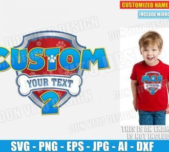 Paw Patrol Logo Customised Number (SVG dxf png) SVG cut files PNG image vector clipart - DonVitoDesign Store