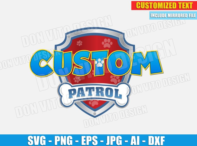 Paw Patrol Logo Customised Svg Dxf Png Digital Birthday Marshall Cut You can download in.ai,.eps,.cdr,.svg,.png formats. paw patrol logo customised svg dxf png