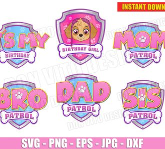Paw Patrol Pink Logo (SVG dxf png) cut files png image vector clipart - DonVitoDesign Store