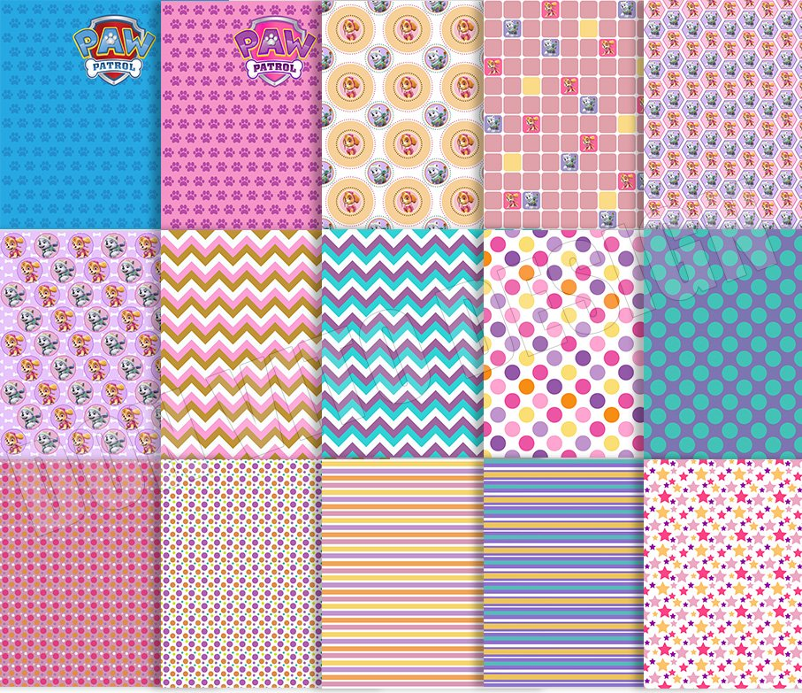 42 Paw Patrol Digital Papers