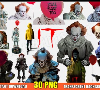 Pennywise The Clown Clipart 30 PNG Images Transparent Background Files Digital Image clipart - Don Vito Design Store