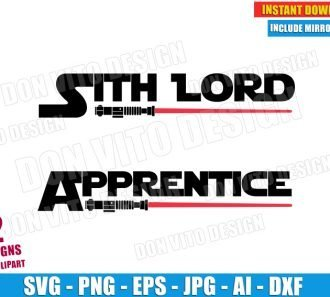 Sith Lord & Apprentice (SVG dxf png) cut files PNG image vector clipart - DonVitoDesign Store