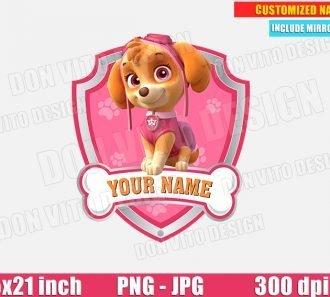 Skye Paw Patrol Logo Customised JPG PNG cut files image vector clipart - DonVitoDesign Store -
