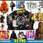 Star Wars Clipart (85 PNG Images) Disney Movie Logo Digital Files Han Solo Chewbacca Darth Vader Yoda T-Shirt Design Birthday Party Boy Girl