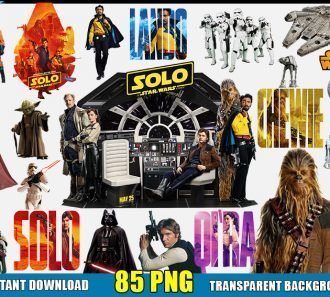 Star Wars Clipart (85 PNG Images) Transparent Background Files Digital Image clipart - Don Vito Design Store
