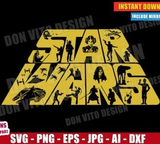 Star Wars Logo (SVG dxf png) cut files PNG image vector clipart - DonVitoDesign Store