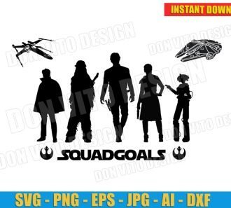 Star Wars Squadgoals Rebels (SVG dxf png) cut files PNG image vector clipart - DonVitoDesign Store