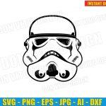 Star Wars Stormtrooper Helmet (SVG dxf png) Disney Movie Vector Clipart Cut File Storm Trooper T-Shirt Design Kids Birhtday Party Dark Side