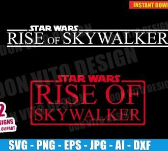 Star Wars The Rise of Skywalker (SVG dxf png) cut files PNG image vector clipart - DonVitoDesign Store
