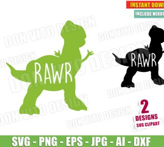 T-Rex Rawr (SVG dxf png) SVG cut files PNG image vector clipart - DonVitoDesign Store