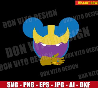 Thanos Mickey Mouse Ears (SVG dxf PNG) SVG cut files PNG image vector clipart - DonVitoDesign Store