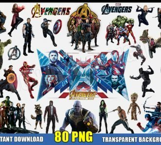 The Avengers Clipart (80 PNG Images) Transparent Background Files Digital Image clipart - Don Vito Design Store