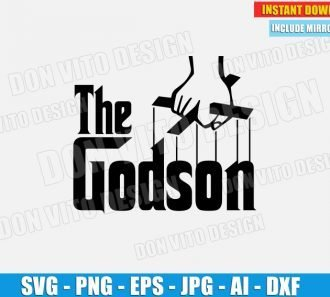 The Godson (SVG dxf png) SVG cut files PNG image vector clipart - DonVitoDesign Store