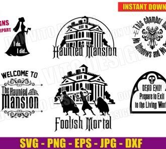 The Haunted Mansion (SVG dxf png) cut files png image vector clipart - DonVitoDesign Store