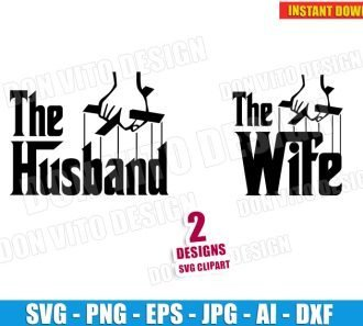 The Husband & The Wife Logo (SVG dxf png) SVG cut files PNG image vector clipart - DonVitoDesign Store