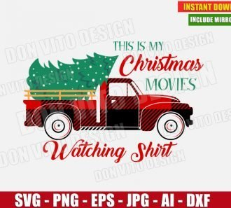 This is My Christmas Movie Watching Shirt (SVG dxf png) cut files PNG image vector clipart - DonVitoDesign Store