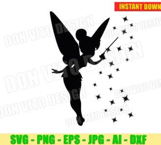 Tinkerbell Clipart SVG dxf png cut files image vector clipart - DonVitoDesign Store -