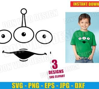 Toy Story Alien Face Pixar (SVG dxf png) cut files png image vector clipart - DonVitoDesign Store