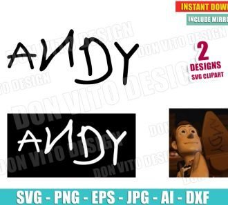 Toy Story Andy Name Woody Shoes (SVG dxf png) SVG cut files PNG image vector clipart - DonVitoDesign Store