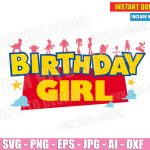 Toy Story Birthday Girl (SVG dxf png) Disney Pixar Movie Cut Files Silhouette Cricut Vector Clipart Woody Forky Jessie T-Shirt Design Kids