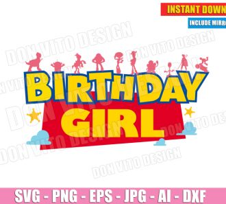 Toy Story Birthday Girl (SVG dxf png) SVG cut files PNG image vector clipart - DonVitoDesign Store