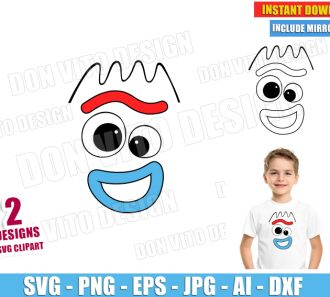 Toy Story Forky Face (SVG dxf png) SVG cut files PNG image vector clipart - DonVitoDesign Store
