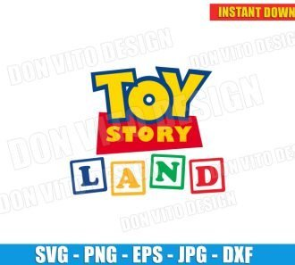 Toy Story Land Logo (SVG dxf png) SVG cut files PNG image vector clipart - DonVitoDesign Store