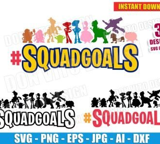Toy Story SquadGoals Bundle (SVG dxf png) SVG cut files PNG image vector clipart - DonVitoDesign Store