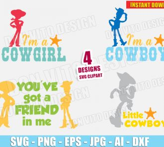 Toy Story Woody & Jessie Bundle (SVG dxf png) SVG cut files PNG image vector clipart - DonVitoDesign Store