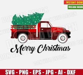 Truck Tree Buffalo Plaid (SVG dxf png) cut files PNG image vector clipart - DonVitoDesign Store