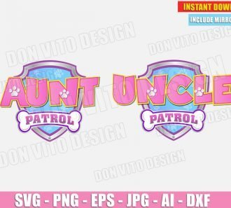 Uncle Aunt Paw Patrol Birthday Party (SVG dxf png) cut files PNG image vector clipart - DonVitoDesign Store
