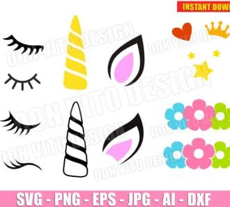 Unicorn Kit SVG dxf png cut files image vector clipart - DonVitoDesign Store -
