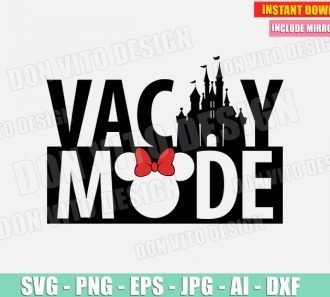 Vacay Mode Disney Castle (SVG dxf png) SVG cut files PNG image vector clipart - DonVitoDesign Store