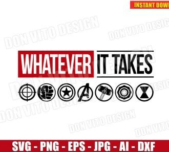 Whatever It Takes inspired Marvel Logo (SVG dxf png) SVG cut files PNG image vector clipart - DonVitoDesign Store