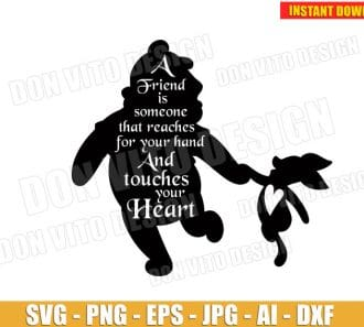 Winnie the Pooh Quote SVG dxf png cut files image vector clipart - DonVitoDesign Store -