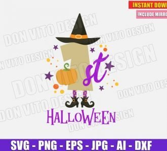 1st Halloween Baby (SVG dxf png)