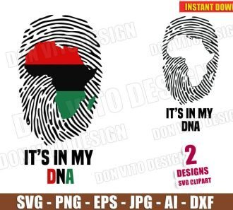 Africa It's in my DNA (SVG dxf png) cut files image vector clipart - DonVitoDesign Store