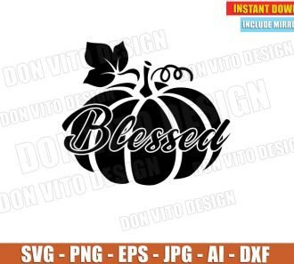 Blessed Pumpkin Thanksgiving Day (SVG dxf png) cut files image vector clipart - DonVitoDesign Store